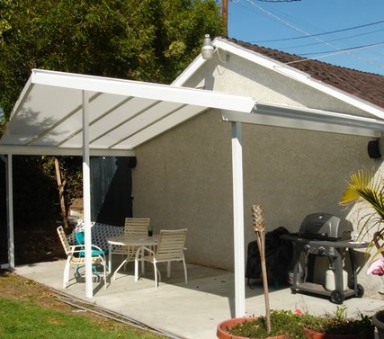 Sola-Vue Acrylic Roof with Gable roof line.