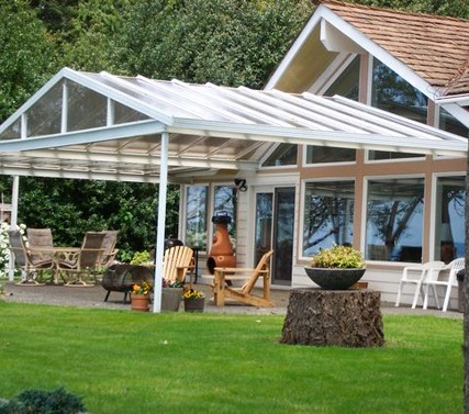 Sola Vue Acrylic Patio Cover With Gable Roof Line ...
