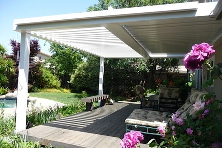 Louvered Roof Patio Cover By Arcadia From Aztec Enclosures