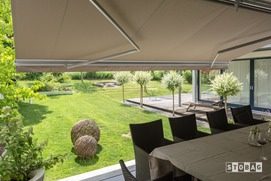 Stobag Folding Arm awning from Aztec Enclosures